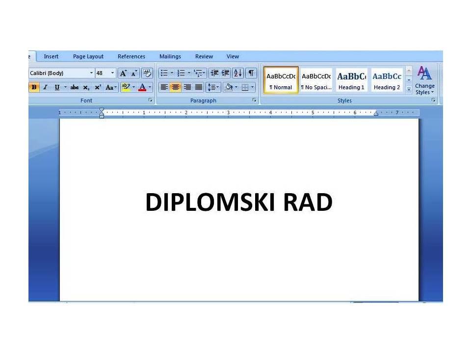 Kako napisati diplomski rad?